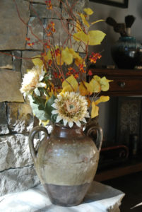 vase with Fall flowers