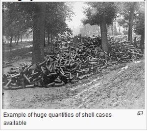 photo of artillery shells