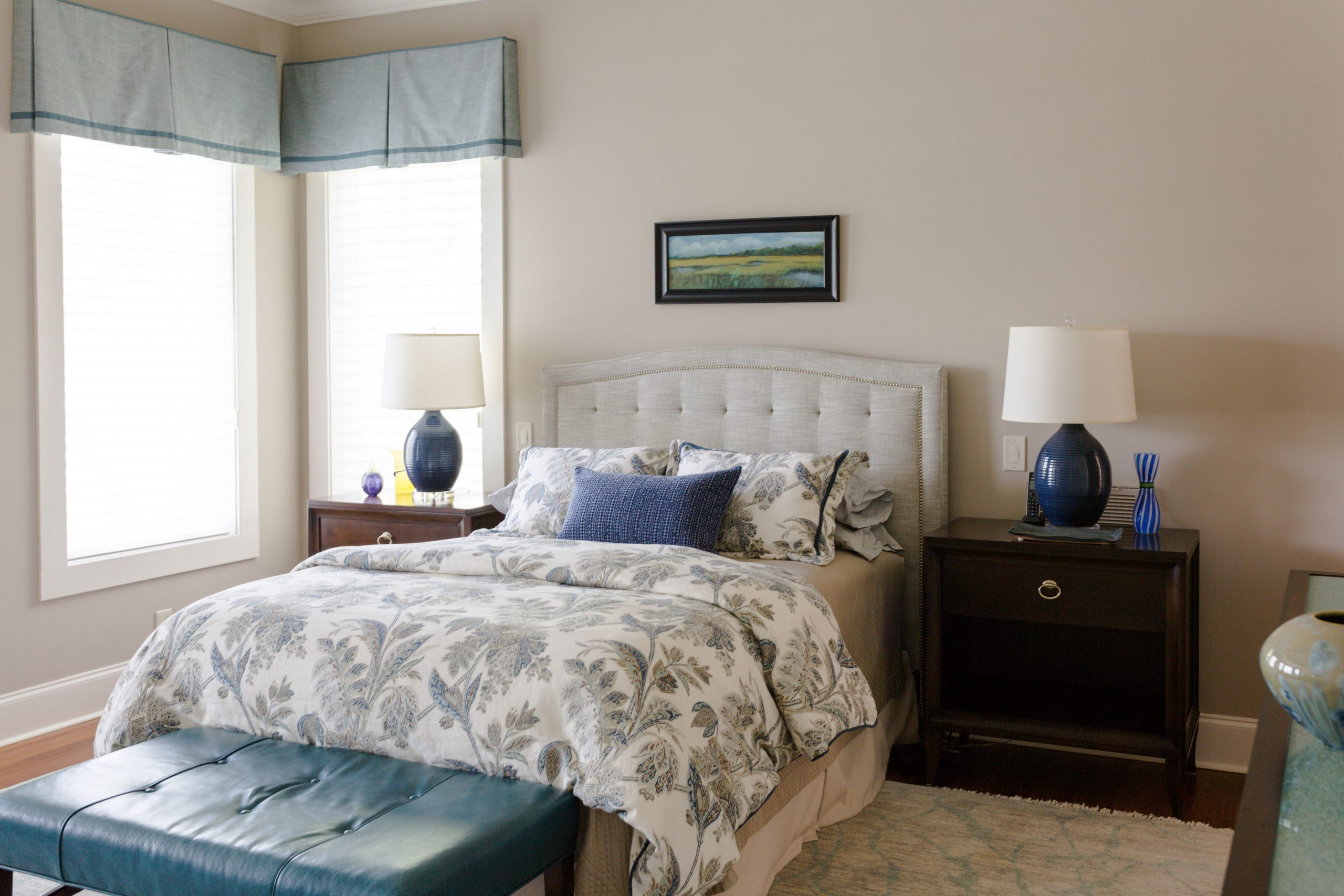 Thompson custom bedding and valances