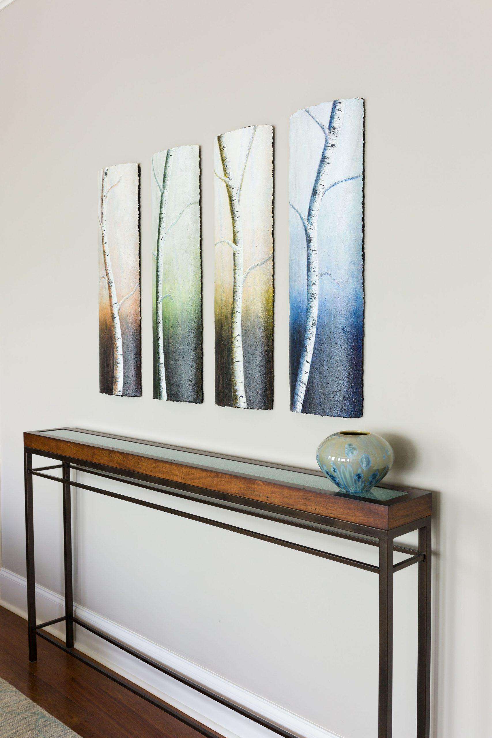 custom table and artwork