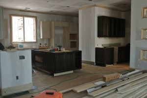 new kitchen under construction