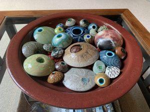 Ceramic Mood stones in Fall colors